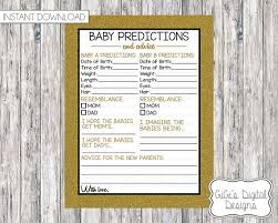 black and white pictures for babies printable twin baby predictions and advice card baby shower game black etsy