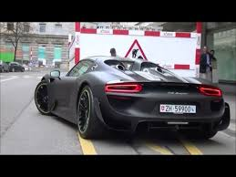 porsche 918 spyder black. matte black porsche 918 spyder with weissach package in zrich startup u0026 revs youtube
