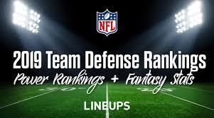 2019 Nfl Team Defense Rankings Fantasy Football Stats