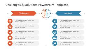 Challenges Solution Powerpoint Template Powerpoint Slide