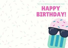 Templates For Birthday Cards Pink Sprinkles And Popsicle Dad Birthday Folded Card