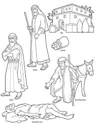 Good Samaritan Character In The Bible Coloring Page Play Through