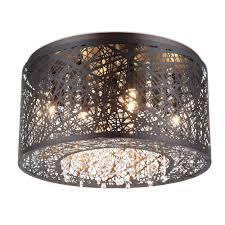 new 7 lights bird nest 16 flush mount ceiling light fixture inca laser cut shade crystal