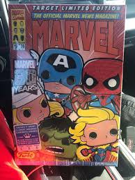 Funko Pop Tees Size Chart Target Limited Edition Funko Marvel The Official News Magazine 80 Years 1pc Size Xl Pop Tees T Tee Shirt Black Boxed Marvel Comic Group Sealed