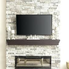 modern artificial fireplace mid century faux stone mantle