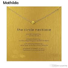 whole hot sparkling the circle necklace gold dipped pendant necklace clavicle chain statement women jewelery t0309
