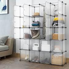 langria 20 cubby shelving closet system cube organizer plastic storage cubes