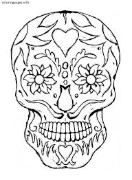 Small Picture 16 best Sugar Skull Coloring Pages images on Pinterest Free