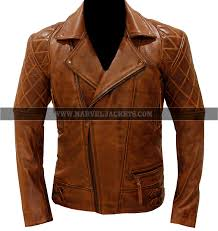 brando classic diamond quilted biker men s motorcycle brown real leather jacket