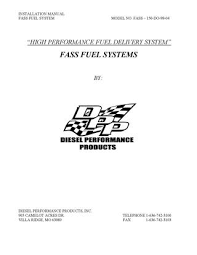 1998 5 2004 dodge cummins fass install manual by diesel bombers installation manual fass fuel system