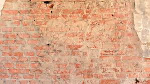 view of the old destroyed brick wall background