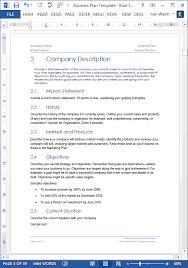 Downloadable Business Plan Template Business Plan Templates 40 Page Ms Word 10 Free Excel