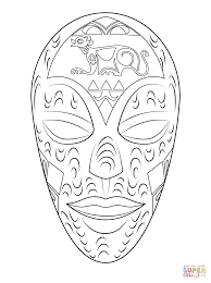 Coloriage Masque Africain De Bois Coloriages Imprimer Gratuits