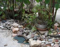 The rock garden art and low-tech security installation nears completion in  this final year