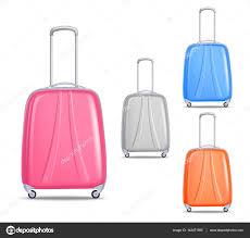 Light Luggage Sets Lightweight Colorful Plastic Travel Luggage Set Stock