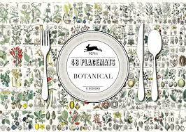 Designer Paper Placemats Botanical Designs Paper Placemats English French And
