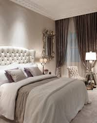 Pretty Curtains Bedroom Classic Bedroom With Pretty Wooden Bed And Bench Also Green Drapes