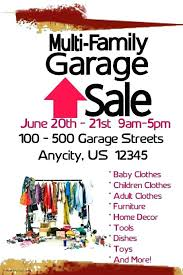 Yard Sales Flyers Family Garage Sale Templates Moving Flyer Template