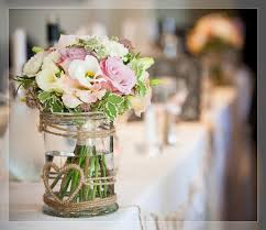 Decorated Jars For Weddings Flowers by Arrangement Jam Jar Flowers from Flowers by Arrangement 27