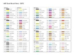 Tombow Dual Brush Pen Blank Color Chart Amazon Com Tombow Dual Brush Pens Pastels Pack Of 6