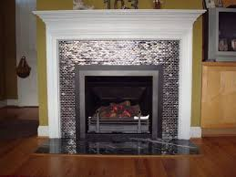 Small glass tile fireplace surround, kitchen, bath and more ideas.  Description from pinterest