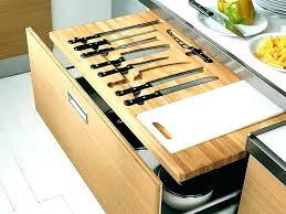 kitchen knife storage drawer