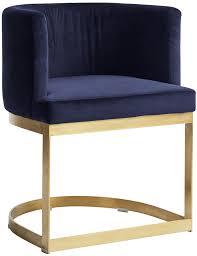 Nordal Lounge Stuhl Mit Blauer Samt Sitzfläche Und