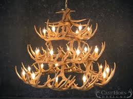 white faux antler chandelier canada whitetail deer cast horn designs faux antler chandelier