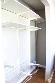 side empty ikea closet shelves this super helpful post talks about 3 best storage systems my