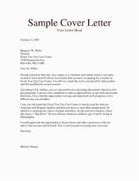 Resume Cover Letter Template Childcare Cover Letter Example