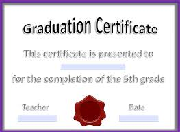 Certificate Of Achievement Templates Free Amazing 48 Graduation Certificate Templates Word PDF Documents Download