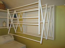 Diy Folding Clothes Laundry Drying Rack Home Painting Ideas And Interesting  Wall Mounted Clothes Drying Rack