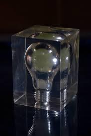 Pierre Giraudon French Pop Art Lucite Light Bulb Sculpture