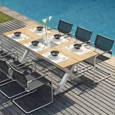 Impressive Modern Patio Furniture Outdoor Dining Tables E And Design