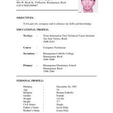 Resume Sample For Job Application Pdf Philippines Archives