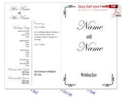 Wedding Program Scroll Border Scrolls 1 Wedding Program Fan Cool Colors