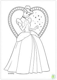 Princess Cinderella Coloring Pages Catorzeinfo