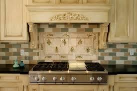 Green Tile Backsplash Kitchen Backsplash With Green Granite Home Design And Decor