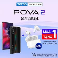 Điện thoại Tecno Pova 2 (6GB+128GB) |Pin 7000 mAh| 6.9