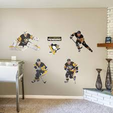 pittsburgh penguins power pack large officially licensed nhl removable wall decals fathead