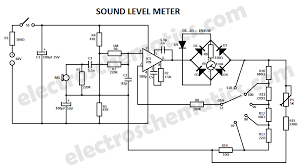 sound level meter circuit schematic electronics sound level meter circuit schematic