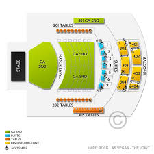 The Joint Hard Rock Las Vegas Seating Chart Hard Rock Hotel And Casino Las Vegas The Joint Tickets