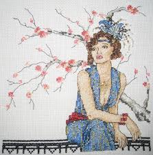 Art Deco Cross Stitch Charts Crafty Cross Stitch Art Deco Lady Unravelled