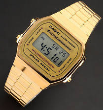 casio a168wg 9wdf wrist watch for men casio a168wg 9a men s gold stainless steel digital alarm stopwatch watch