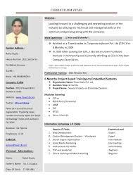 New Resume Format Resume Work Template