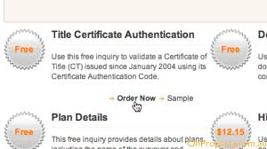 sample title how to check a land title for free