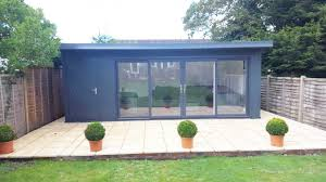 summer house office. Combination Summer House Store · 17x13 + 6x13 Garden Room With UPVC Doors In RAL 7016 Office