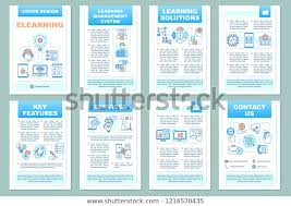 Create Leaflet Online Elearning Brochure Template Layout Online Learning Royalty