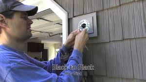 exterior light installation on vinyl siding block you
