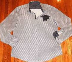Bugatchi Size Chart Details About Bugatchi Uomo Mens Original Brand New Shaped Fit Dress Shirt Size Xxl Nwt